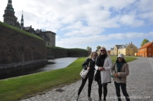 Walking around the castle - we made a friend along the way, Candice!